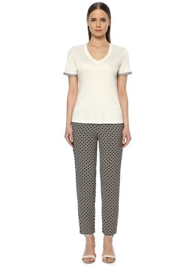 NetWork Kadın 1073835 Regular Fit Desenli Pantolon Bej